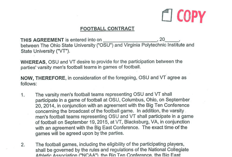 closer look at Ohio State football schedule contracts - Land-Grant ...