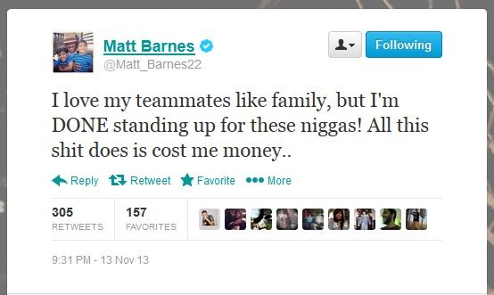 Matt Barnes twitter