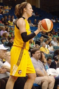 Tulsa Shock forward Kayla Pedersen has done a little bit of everything to help her rise to the top of the 2011 rookie class. (Photo courtesy of Troy Littledeer.)