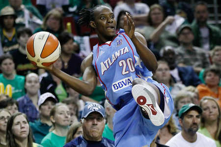 The Minnesota Lynx swept the Atlanta Dream during the regular season in two games for which forward Sancho Lyttle was absent. Her presence could make a difference in the Dream's second consecutive trip to the WNBA Finals. Photo by Kailas Images.
