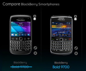 BlackBerry Bold 9790 and 9700