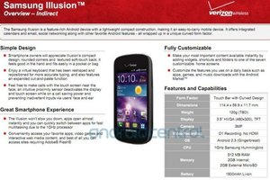 Samsung Illusion specs