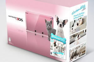 Pink Nintendo 3DS bundle with Nintendogs + Cats