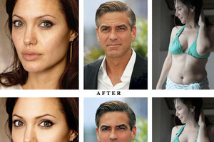 Photo retouch - Before and after