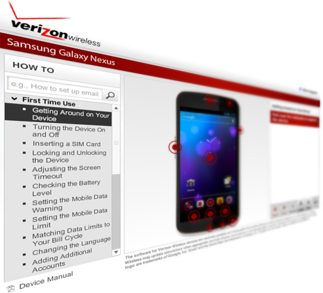 Galaxy Nexus interactive guide