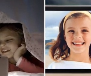 Samsung Apple ad child actress