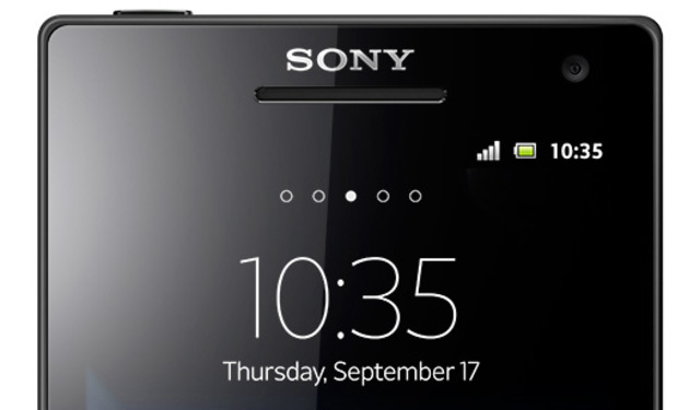 Sony logo on phone