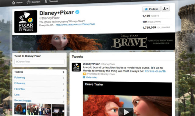 Twitter Brand Page Disney 600