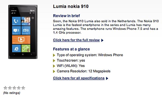 Lumia 910