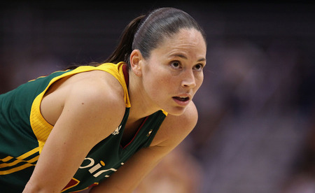 PHOENIX, AZ - JULY 26:  Sue Bird #10 of the Seattle Storm awaits a free throw shot from the Phoenix Mercury during the WNBA game at US Airways Center on July 26, 2011 in Phoenix, Arizona. The Storm defeated the Mercury 83-77.  Photo by Christian Petersen/Getty Images.