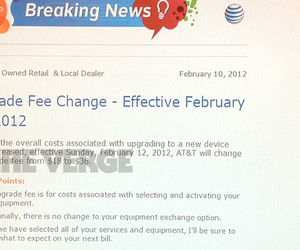 AT&T upgrade increase