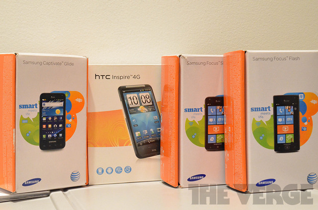 AT&T phones, windows phone boxes (1020)