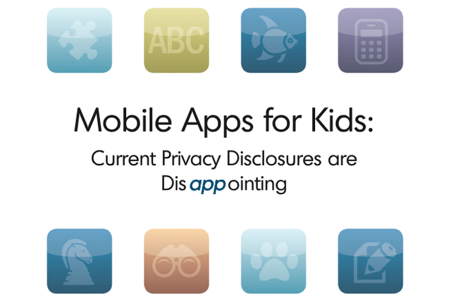 FTC child apps privacy report