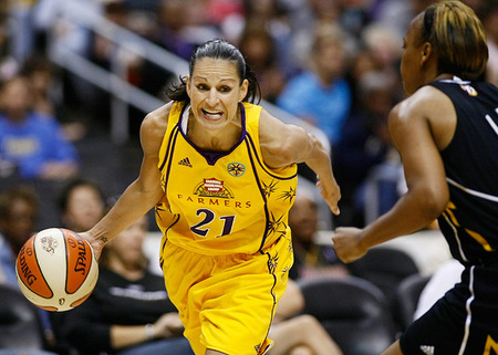 With nothing more to prove as one of the most efficient distributors of all time, Ticha Penicheiro had the best shooting efficiency of her 14-year career in 2011. Most of us only dream of aging this well. Photo by Craig Bennett/112575 Media.
