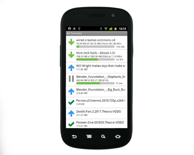 uTorrent Remote Nexus S Android