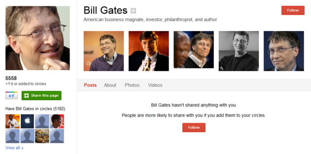 Bill Gates Google Plus