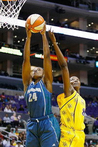 Charde Houston is known for her scoring ability, but the rebounding ability she's shown with the Minnesota Lynx could also be valuable to the Phoenix Mercury. Photo by Craig Bennett/112575 Media.