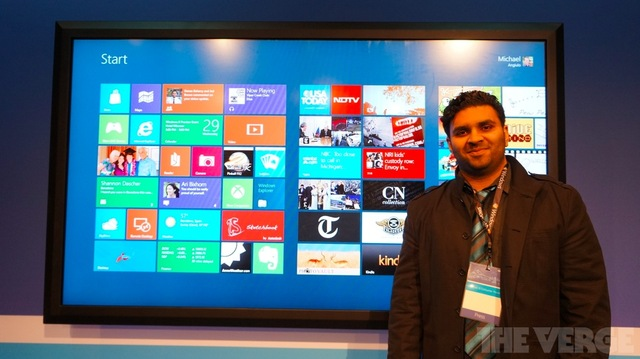 Gallery Photo: Windows 8 Consumer Preview on an 82-inch display