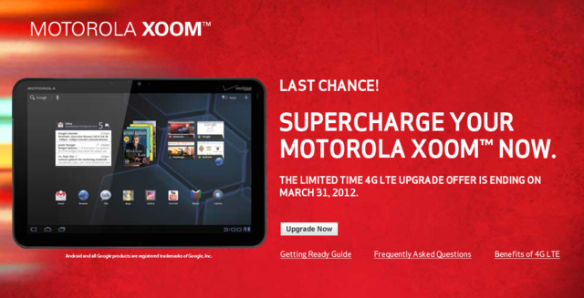 xoom 4g upgrade