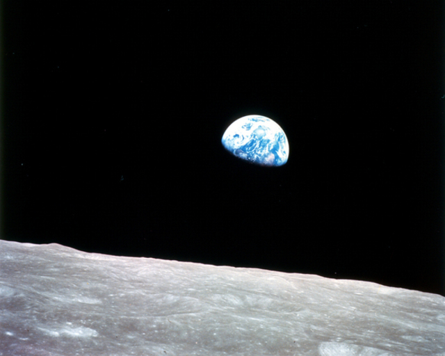 Apollo 8 moon image