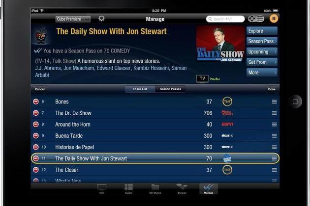 TiVo iPad