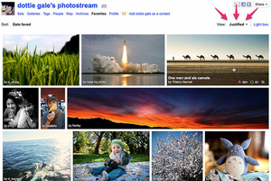 Flickr Justified view My Favorites