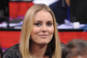Lindsey Vonn is a Clippers fan, the Clippers helped us out by beating the Jazz last night. Yay, Lindsey!