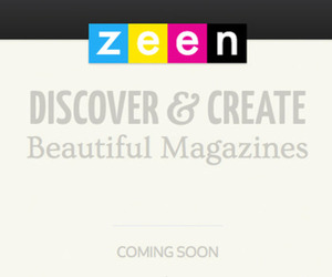 Zeen logo and splash page