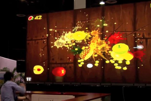 Crunchy logistics Kinect iPad display