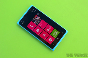 lumia 900 cyan green background stock