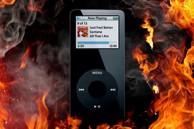 burning ipod nano shutterstock