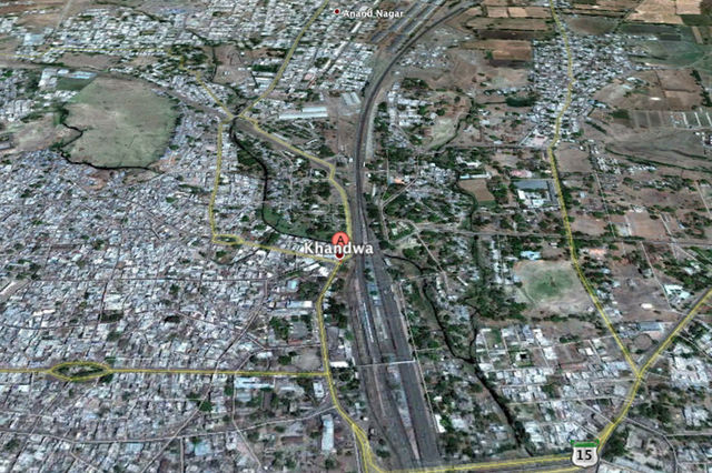 Khandwa India  City pictures : google earth khandwa india