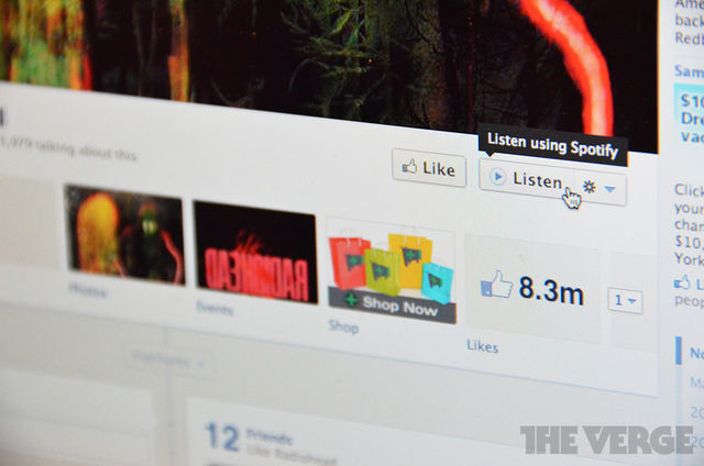 Facebook adds 'Listen' button for musicians' pages