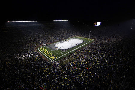 Michigan football and men's ice hockey are two of the most successful programs in the nation in their respective sports, which makes the athletic department's aggressive efforts to build its women's basketball program all the more impressive. (Photo by Leon Halip/Getty Images)