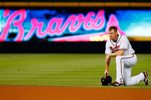 Being 40 is hard work for Chipper Jones. Happy Birthday old man kid.