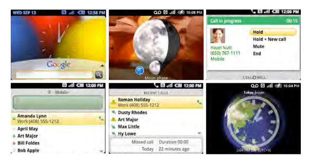 Android 2007 screens