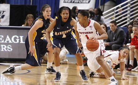 Former Rutgers guard Khadijah Rushdan will be one of a few Los Angeles Sparks perimeter players competing to show that they can help the team make up for its lack of a true distributor. Photo by David Butler II-US PRESSWIRE