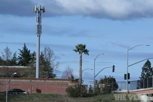 Cell tower 1024 stock