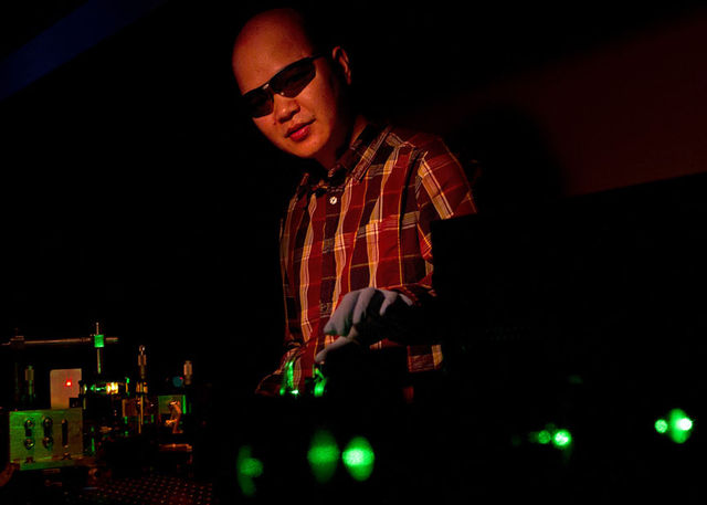 Brown University colored laser