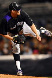 Mar 20, 2012; Peoria, AZ, USA;  Colorado Rockies relief pitcher Josh Outman (88) throws during the fifth inning against the San Diego Padres at Peoria Stadium. Mandatory Credit: Christopher Hanewinckel-US PRESSWIRE