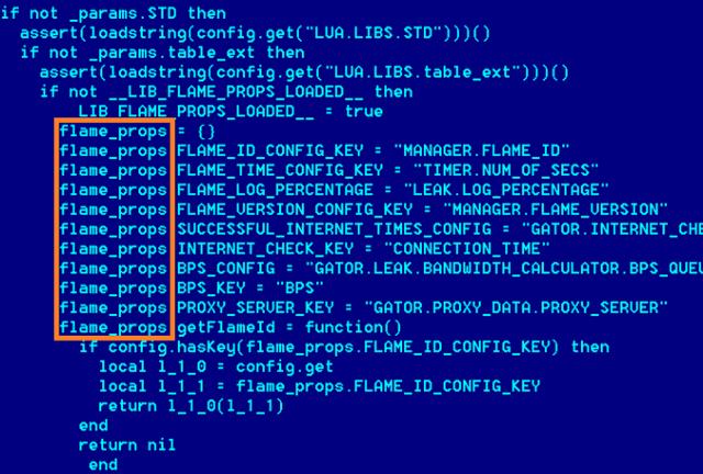 Flame trojan code