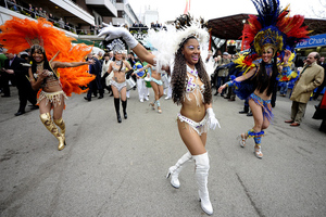 Wouldn't you rather look at this picture of Carnival celebrants than one of LeBron or Garnett? I thought so.
