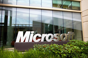 Microsoft campus stock image