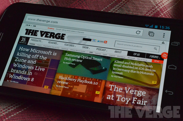 Chrome Beta Android (The Verge)