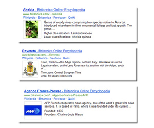 bing britannica results