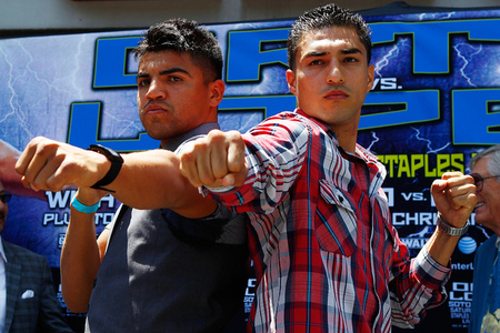 Victor Ortiz and Josesito Lopez are boxing's main attraction this weekend. (Photo by Craig Bennett/Showtime)