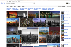 Bing image search redesign