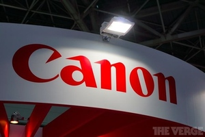 canon logo stock