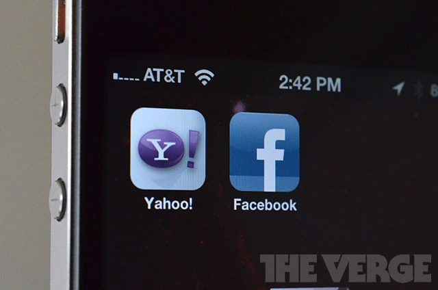 yahoo facebook ios apps homescreen