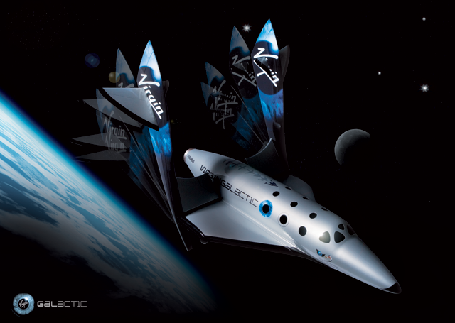 Virgin Galactic Spaceship Two Feathering